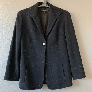 Lafayette 148 Black Flecked Wool Silk Jacket 16